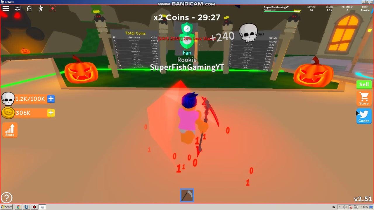 Redeem Code Reaper Simulator Roblox Again Hallloween Simulator