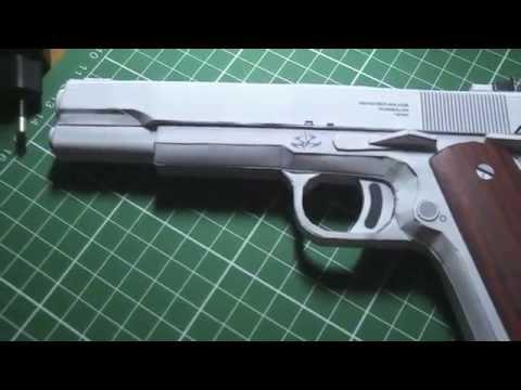 Papercraft Hitman COLT M1911 1:1 3D Paper Model