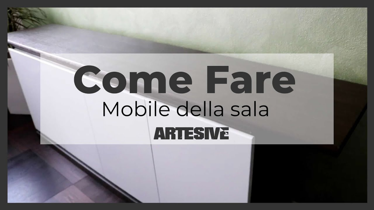 Rinnovare il mobile della sala con la pellicola adesiva video breve youtube - Carta per coprire mobili ...