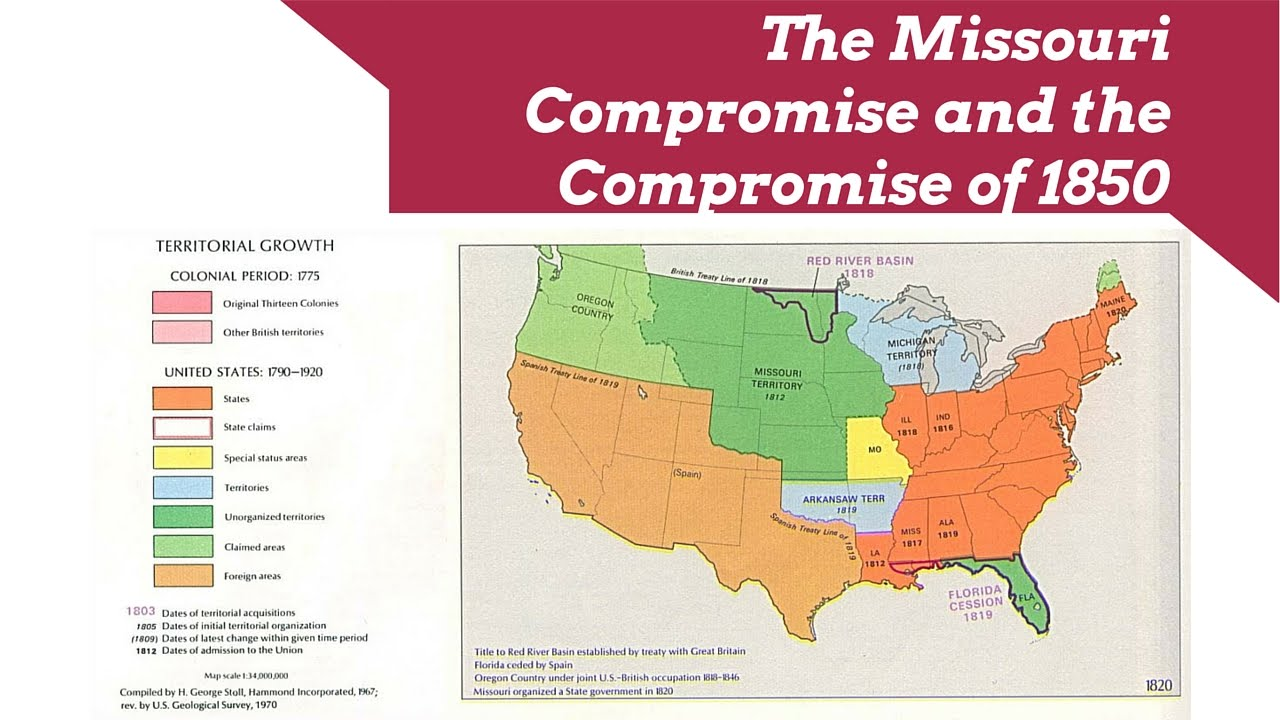 the missouri compromise and the compromise of 1850
