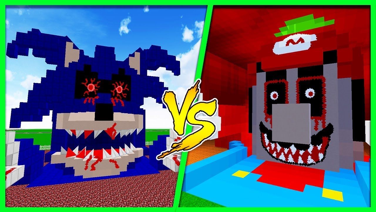 Minecraft Sonic Exe House Vs Mario Exe House Building