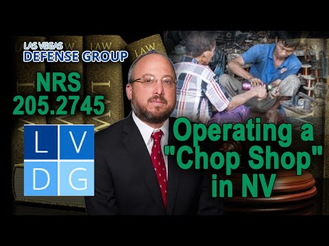 Who can be prosecuted for running a chop shop in Nevada?