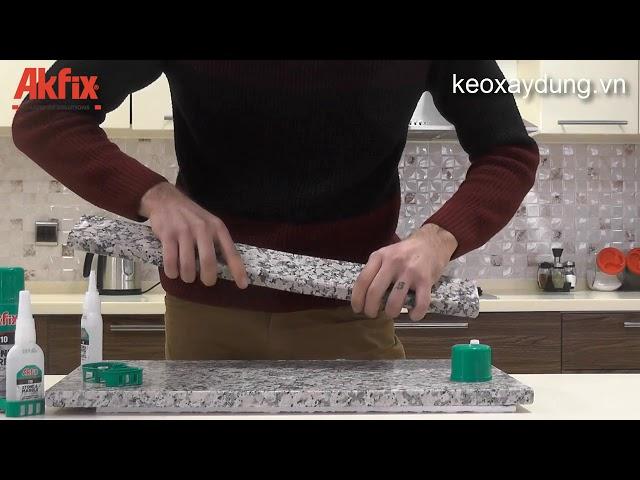 Hướng dẫn sử dụng Keo gắn đá Akfix 710 Stone