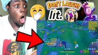 Try not to laugh (FORTNITE) by Fitz REACTION!!!