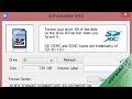 اصلاح مشاكل الفلاشات وكروت الميموري التالفة بسرعة ✔ برنامج Sdformatter