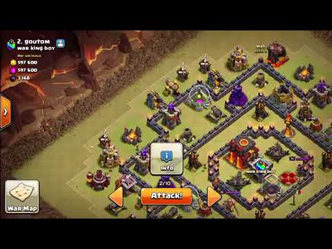 Lavaloon th10 attacking placement of spells