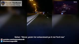 Glijdend transport ambulance / Police escort HMC Westeinde naar LUMC 24-03-2017 (ENG SUBS)