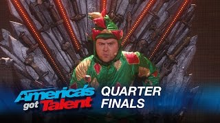 Piff The Magic Dragon: Howie Mandel's Dangerous Game With Magician - America's Got Talent 2015