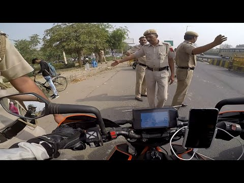 STOPPED BY THE Delhi police!!!