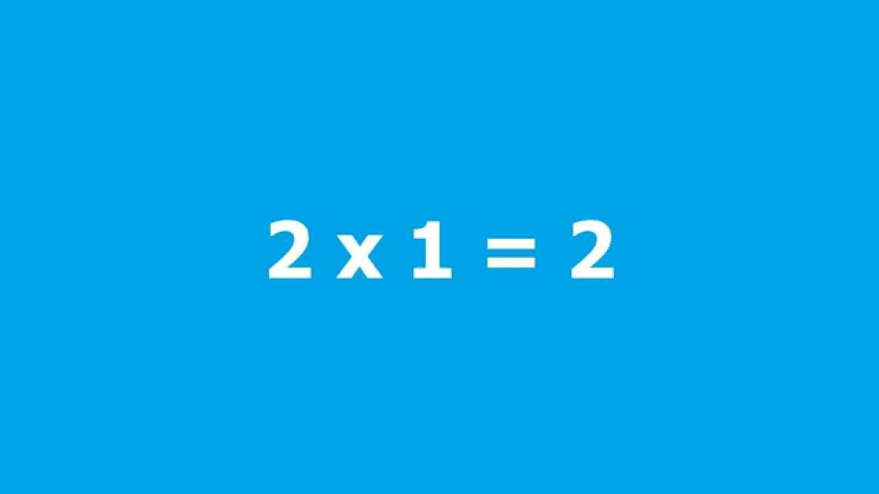 multiplication table kids drill 2 - YouTube