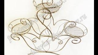 Кувшинка - подставка для цветов на 3 горшка(Кувшинка - подставка для цветов на 3 горшка. Узнать цены, купить или заказать оптом: http://podstavka-dlya-cvetov.ru/podstavka-napo..., 2013-10-31T10:00:31.000Z)