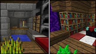Minecraft: CONSTRUINDO UMA CASA COMPLETA E COMPACTA NA MONTANHA!