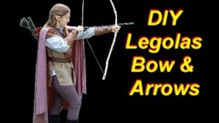 Legolas Costume Tutorial Part 3: Bow, Quiver, Arrows, and Hair