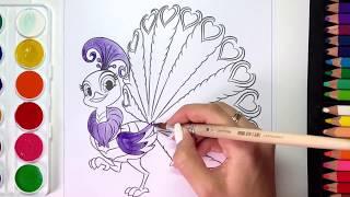 Шиммер и Шайн раскраска павлин
