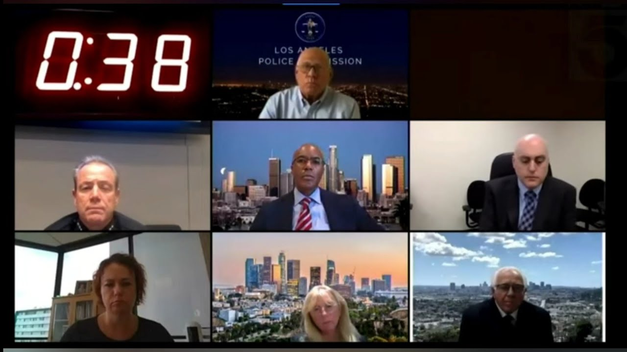Los Angeles Police comission roasts | Top 10 | | Zoom Call |