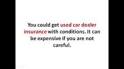 Used Car Dealer Insurance for Beginner - Used Car Dealer Insurance Cost