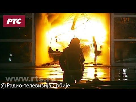 Veliki požar u Zemunu, gori magacin nameštaja