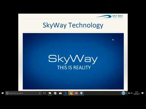 Introduction to the SkyWay Technology. Once in a lifetime opportunity (14.08.2017)