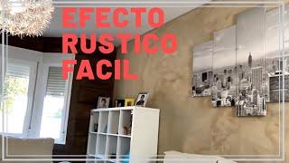 Como pintar una pared con acabado rústico