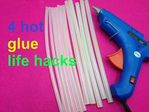 4 fantastic things can be made with hot glue gun - life hacks