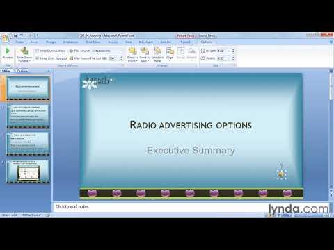 How to loop audio in PowerPoint | lynda.com tutorial