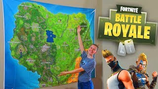 GIANT FORTNITE MAP IN REAL LIFE ft SoaR House! (FORTNITE IRL)