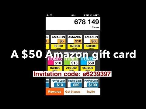 App nana appjoy2014 how i got 50 amazon gift cardproof my app nana appjoy2014 how i got 50 amazon gift cardproof my invitation code e6239397 stopboris Choice Image