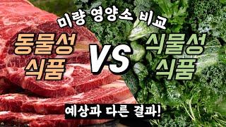 고기에만 있고 채소와 식물성 식품엔 없는 비타민 미네랄…