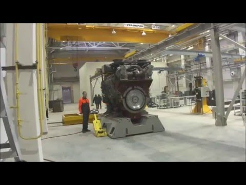 Easy movement of 36 tons diesel engines on Aerofilm Air Casters!