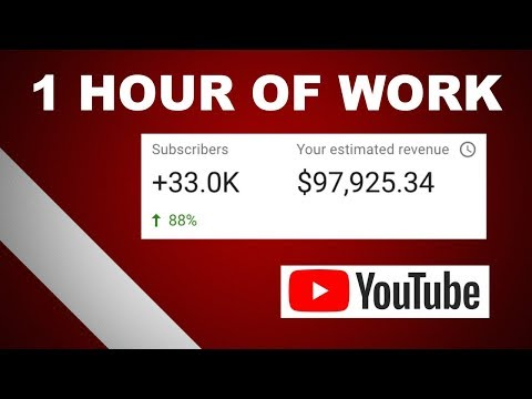 (2020) How To Make $90,000 on YouTube With 1 Hour Of Work