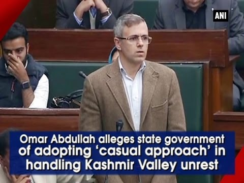 Omar Abdullah alleges government of adopting 'casual approach' in handling Kashmir unrest (P-2)