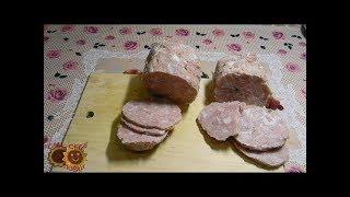 ДОМАШНЯЯ КОЛБАСА из свинины.Пошаговый рецепт.Без оболочки
