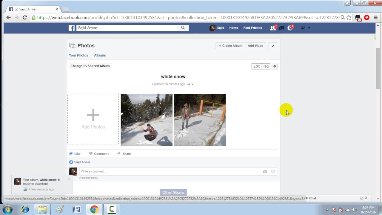 How to download all images from facebook page