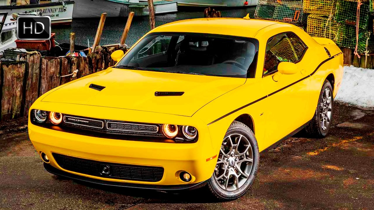 2017 dodge challenger gt awd yellow muscle car exterior. Black Bedroom Furniture Sets. Home Design Ideas