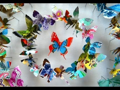 DIY || How To Make A Paper Butterfly For Kids || Globe Craft ! #13