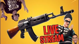 Funny Fortnite Live Stream w/ Subscribers (2 DUBS)