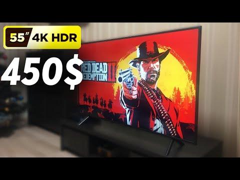 55' 4K HDR Телевизор за 450$ | Samsung 4К 55 дюймов для Xbox One X | PS4 Pro
