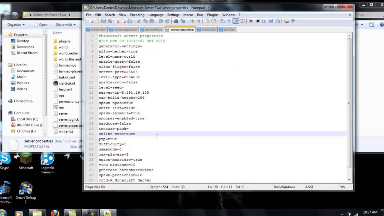 Minecraft, Bukkit online mode false Fix - YouTube
