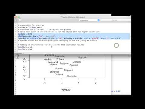 Session 5 Applied Multivariate statistics Similarity measures and NMDS - Demonstration in R