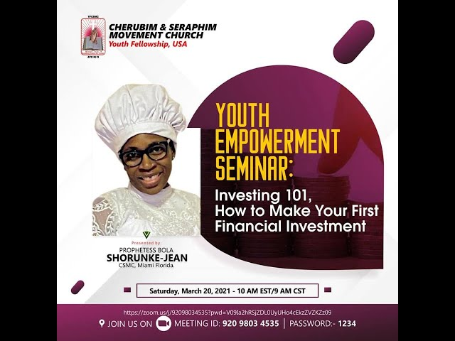 How to make your first financial investment?  -  Pro. Bola Shorunke-Jean