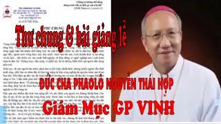 Thư Chung của Đức Giám GP Vinh Phaolô Nguyễn Thái Hợp về thảm họa ô nhiễm mội trường Miền Trung