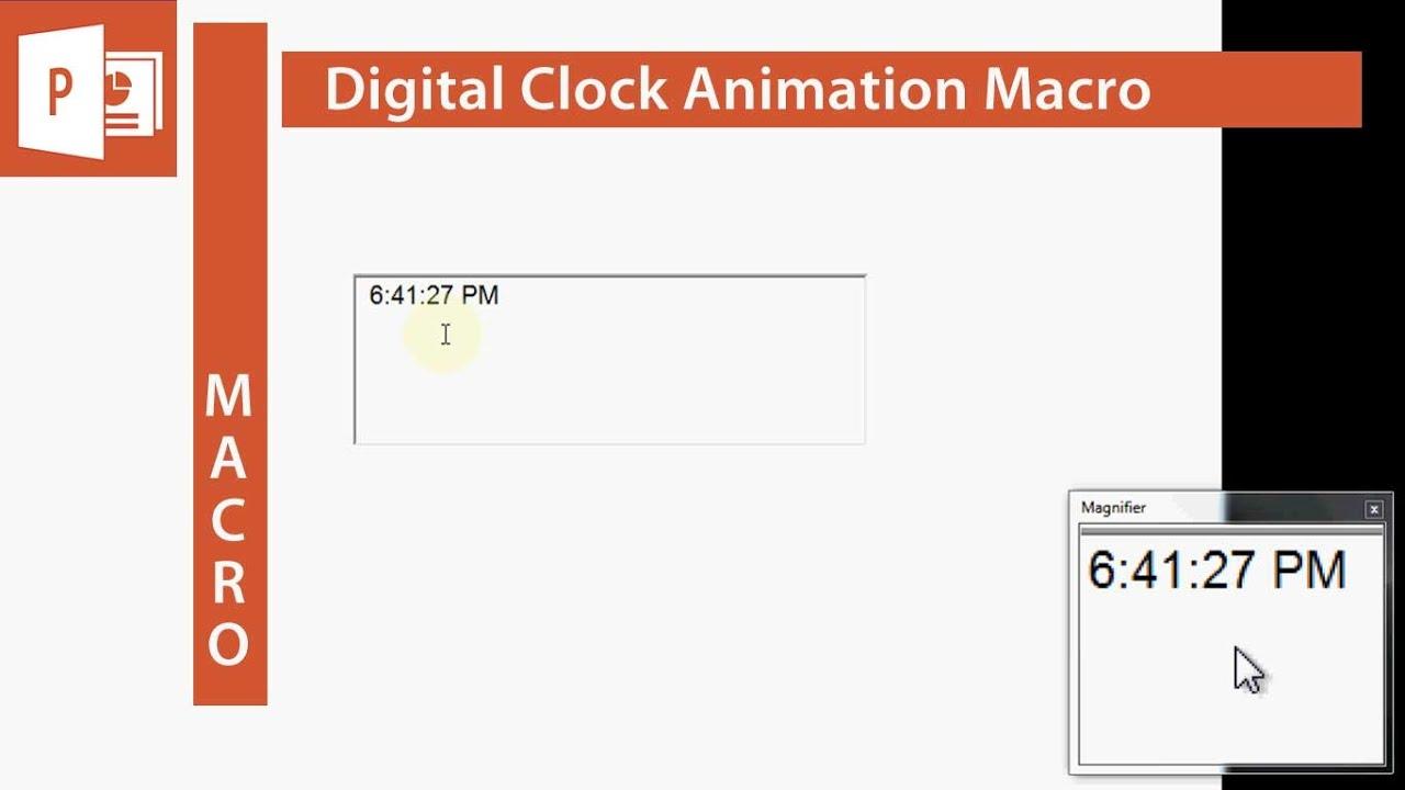 Digital Clock in Excel VBA – Excel VBA Macro Examples