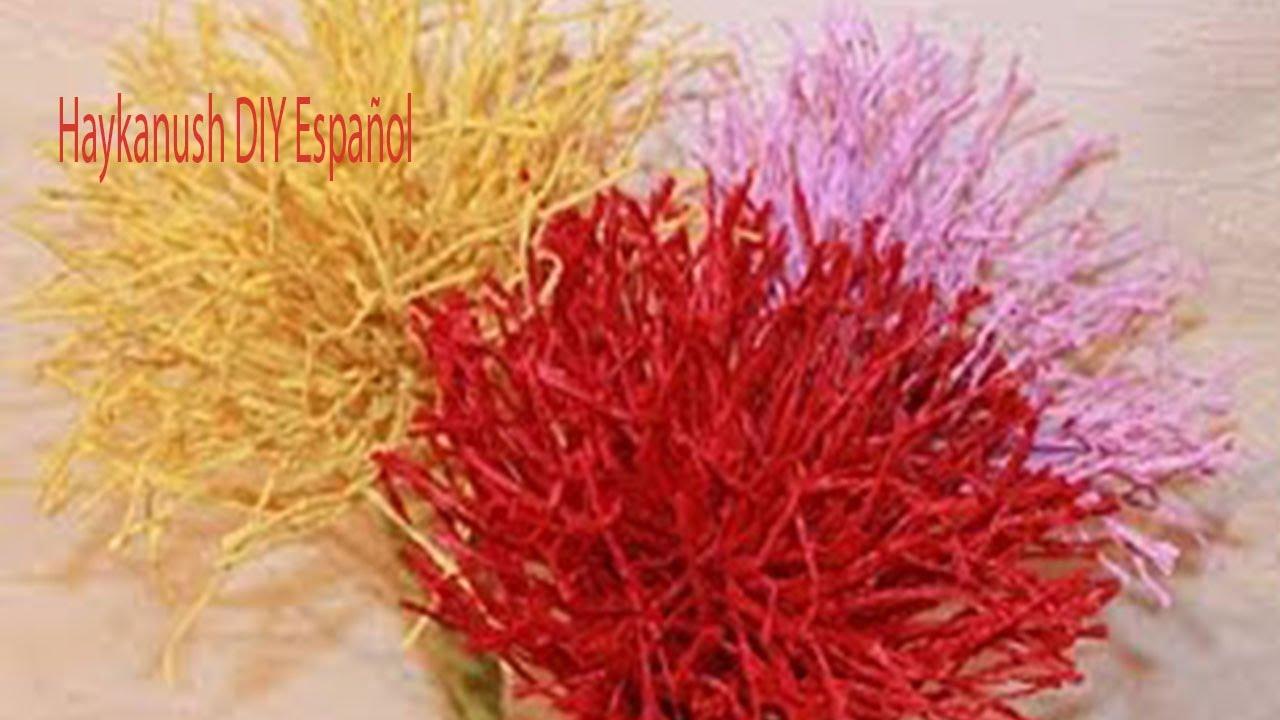 Como hacer flores de papel cr pe f ciles youtube - Como hacer jarrones de papel ...