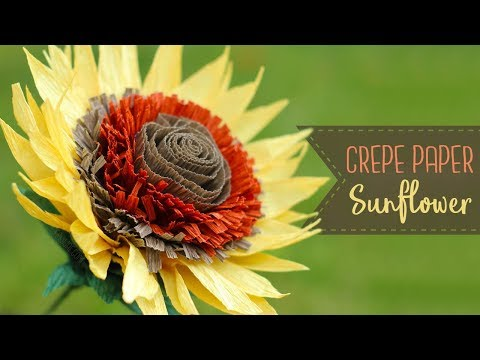 How To Make Crepe Paper Sunflowers!