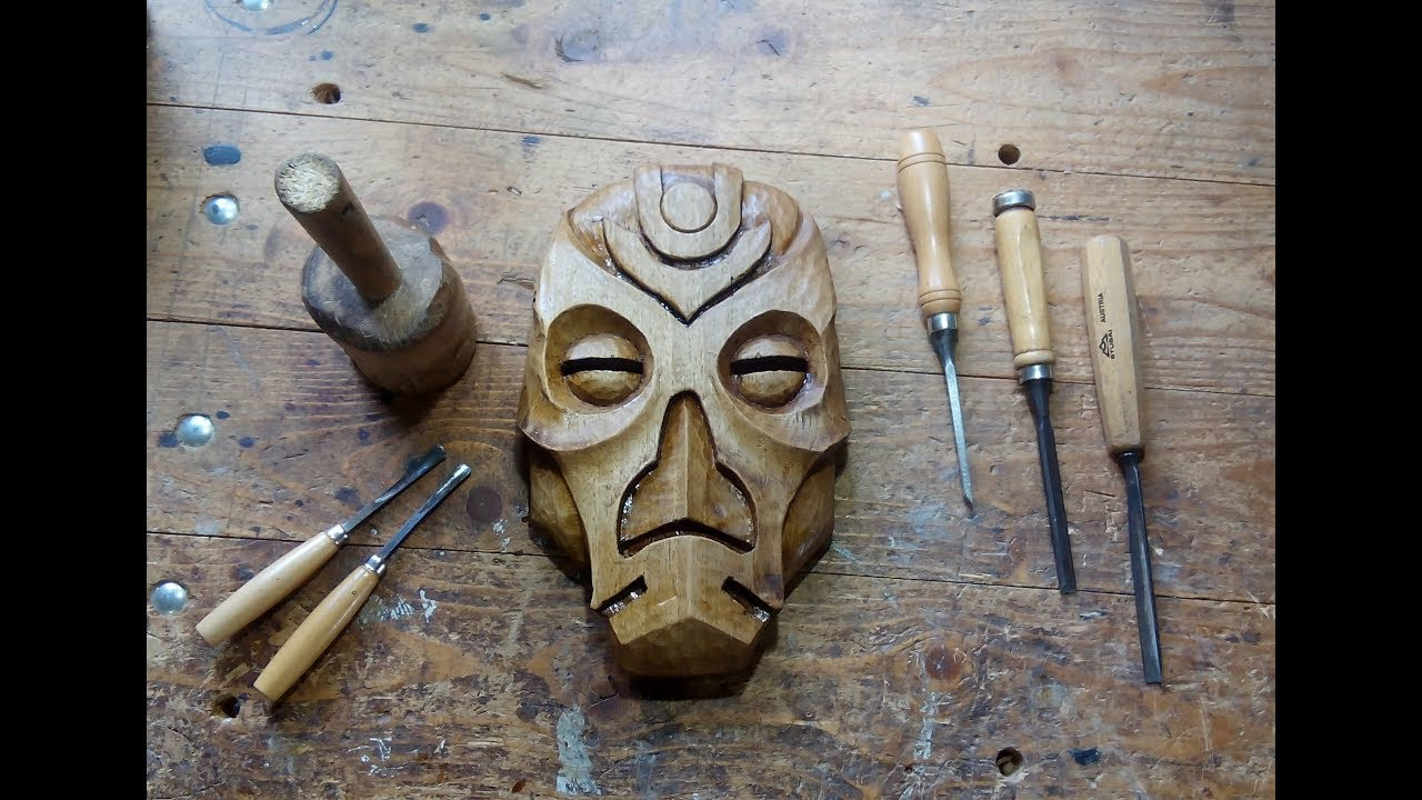 Carving a dragon priest mask out of walnut youtube