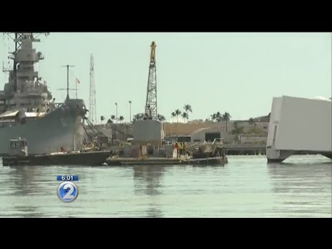 Visits to USS Arizona Memorial suspended due to dock damage