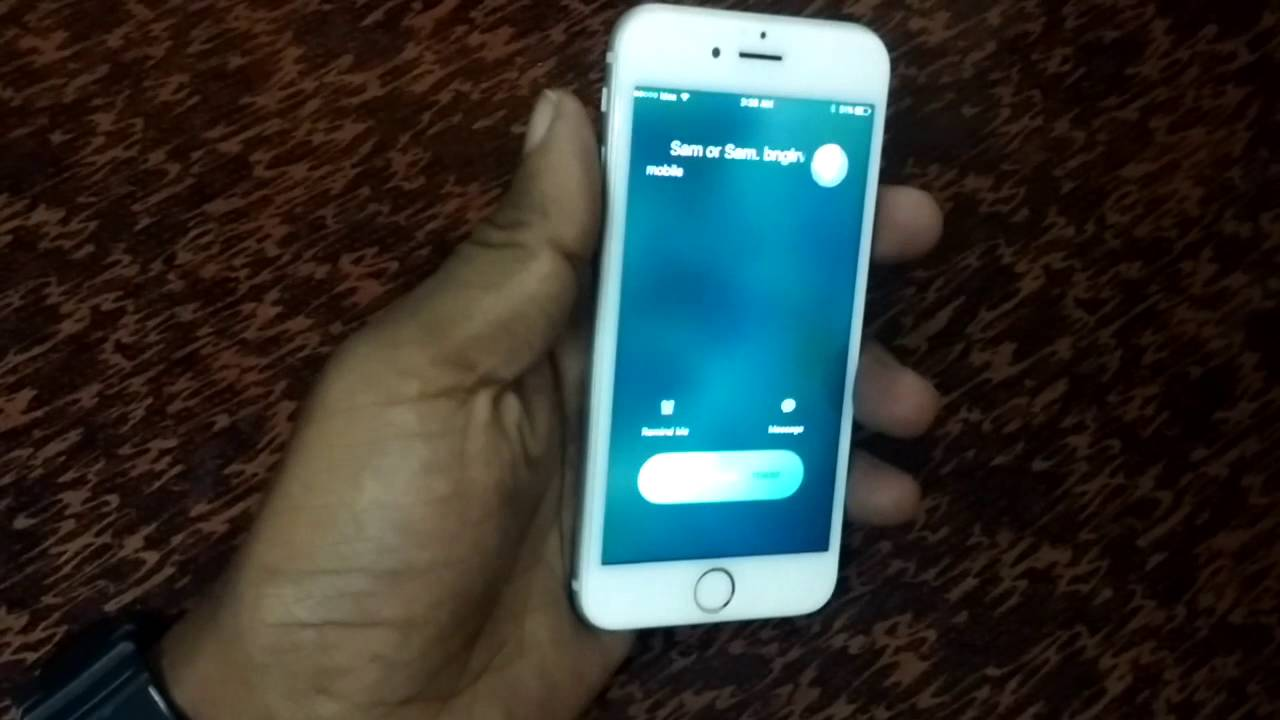 How to decline a phone call on iphone 6s