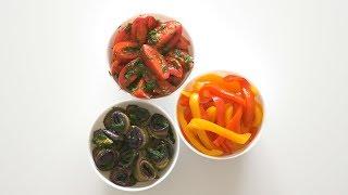 Маринованные помидоры, баклажаны и перцы. Быстрый способ