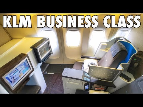 Flying KLM in Business Class to Bangkok