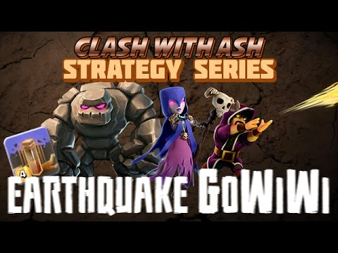 Clash Of Clans | TH9 GoWiWi Using Earthquake (Strategy Keys)